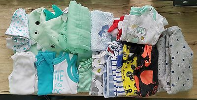 Baby boy bulk bundle clothes towels teethers 0000 00 24 items sprout target dino