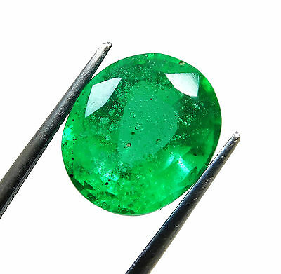 Certified 9.45 Ct. Natural Oval shape Colombian Loose Emerald Gemstone. q911