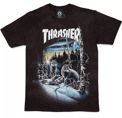 Thrasher 13 Wolves Tee T-shirt S Flame Logo Supreme Box RARE SOLD OUT