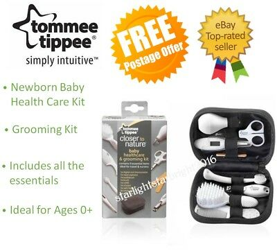 Baby Newborn Medical Grooming Set Thermometer Brush Scissors Nail Clippers Kit