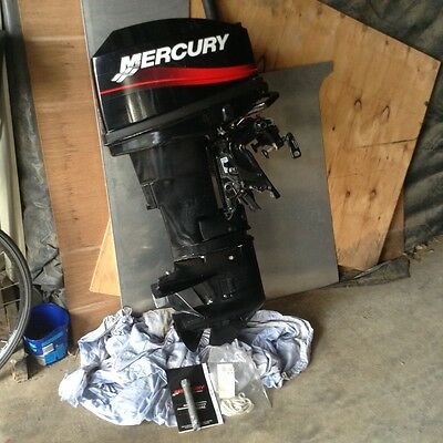 Mercury 20 hp Outboard.