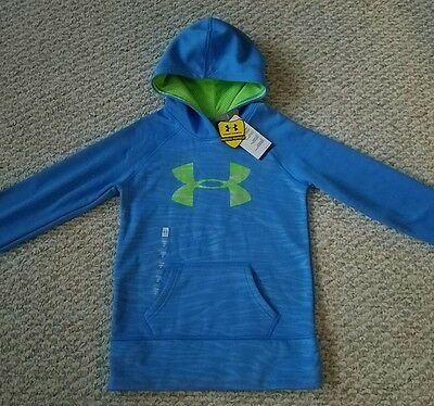 Under Armour Youth Blue Storm NWT Cold Gear Loose Fit Hoodie Size M