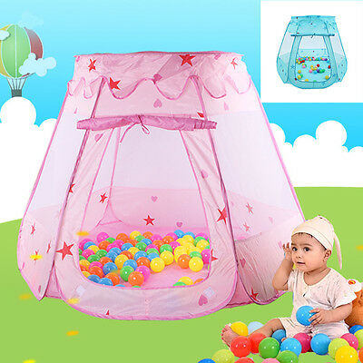 Childrens Girls Kids Pop Up Castle Play Tent Toy Fairy Play House Indoor Outdoor
