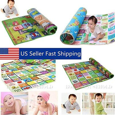 4 Sizes Baby Play Mat Foam Floor Child Activity Soft Toy Gym Creeping Blanket US