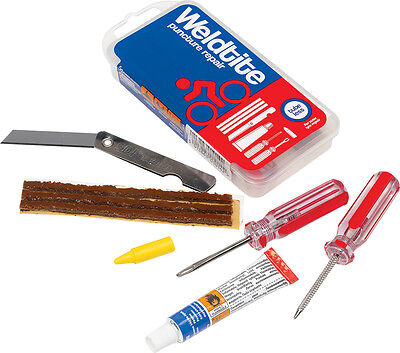 Weldtite Tubeless Patch Kit / Repair Kit for Tubeless Tyres