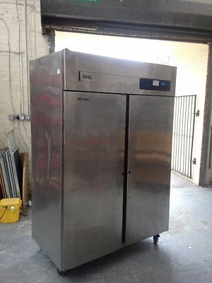 Foster Gastronorm Supra Double Door Stainless Steel Fridge, Twin, Commercial
