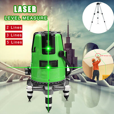 2/3/5 Line 3D Green 360 Rotary Laser Level Self-leveling Tripod Measure Outdoor