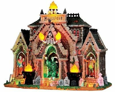 Lemax 35491 ALL HALLOWS MAUSOLEUM Spooky Town Lighted Building Halloween NEW!