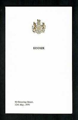 PRIME MINISTER 10 DOWNING STREET MENU 12th MAY 1976