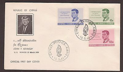 "1965/15/02 F.D.C. ""PRESIDENT JOHN F. KENNEDY"" Commemorative Issue."