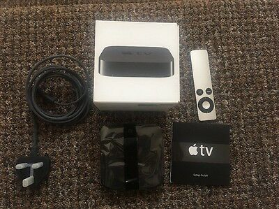 Apple Tv 3Rd Generation Model A1427 Black With Remote