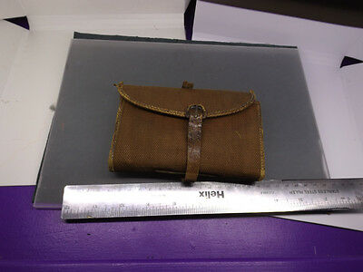 vintage fly wallet  canvas and crocodile skin salmon fly fishing