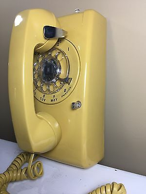 Western Electric Retro Yellow Rotary Wall Telephone