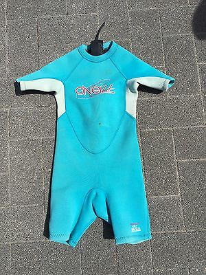 Childs Junior Infant O'Neill  Shortie Wetsuit Size Age 4 2mm