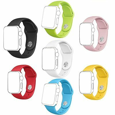 Otmake Apple Watch Band 7Pack Soft Silicone Sport Style Replacement iWatch Strap