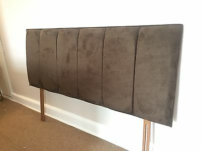 Dreams Brown Velour Double Bed headboard 4.6ft