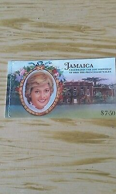 stamp booklet jamaica celebrates the 21st birthday of princess of wales
