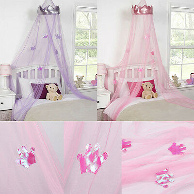 Mosquito Net princess Bed Canopy Girls Bedroom Curtain Dome canopy Pink/Purple
