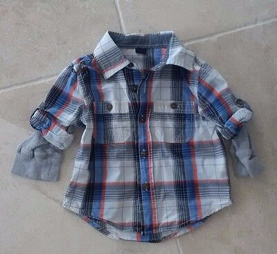 Baby Gap Boys 12-18 months checked shirt top