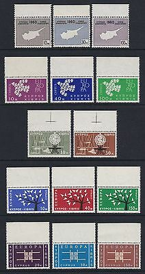 Cyprus 1960-63 5 x sets - all marginals - fresh unmounted mint