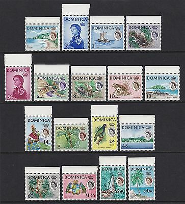 Dominica 1963 full set of 17 - all marginals - fresh unmounted mint