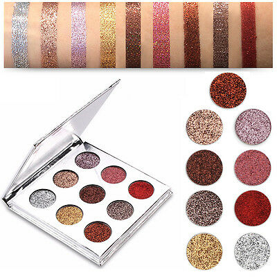 9 Color Shimmer Diamond Eyeshadow Glitter Eye Shadow Palette Makeup Cosmetic Set