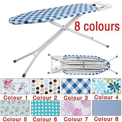 Large Wide Metal Iron Ironing Board Table 10 Step Height Adjustable 109X31cm