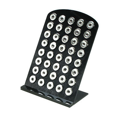 US Portable Acylic Snaps Stands Display For 18/20mm Snap Buttons Jewelry Black