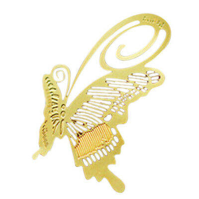 Bookmark Bookmark Metal Butterfly Butterfly Book Reading Help Gift Gold E7U5