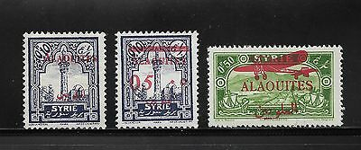 Unused Alaouites Stamps (Syria)- Various Overprints