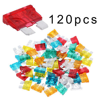Trade 120 Auto Car Fuse Assortment 5 10 15 20 25 30 Amp Standard Blade Type