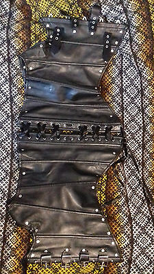 PVC / Latex Goth underbust corset with buckles and straps