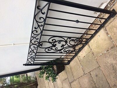 Balcony railings wrought iron front panel and 2 x side panels good quality heavy