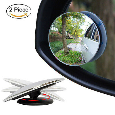 2PCS Driver Side Wide Angle Round Convex Car Auto Rear View Blind Spot Mirror