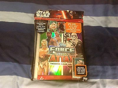 Topps Star Wars Force Attax Trading Card Album Starter Pack New Sealed UK Ver.