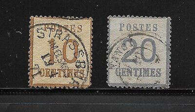 1870 German Alsace And Lorraine Used Stamps