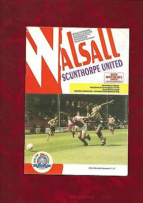 1993/4 Walsall v Scunthorpe United football programme