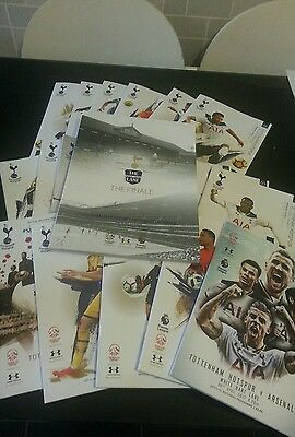 23  spurs  home games programmes  from last season at white hart lane 2016/ 2017