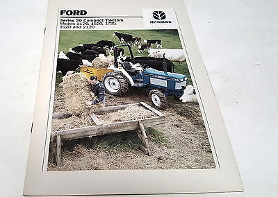 FORD Series 20 Compact Tractor Sales Brochure