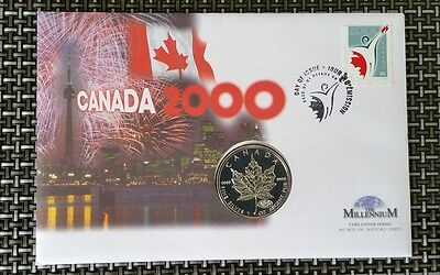 2000 canada silver one dollar coin cover