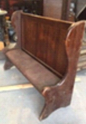 High back Church Pews, dark wood  x 2