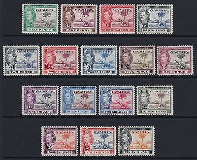 Gambia 1938 full set of 16 - fresh lightly mounted mint £160