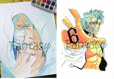 Acquerello e stampa Grimmjow Jaegerjaques – Bleach