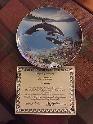 Franklin Mint Orca Plate