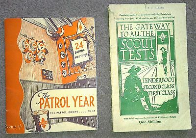 Boy Scout Books  -  The Gateway To all Scout Tests1956, Patrol Year book 1961