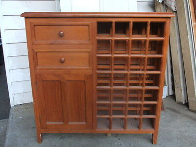 Pine timber CHEST OF DRAWERS cupboard WINE RACK house cabinet unit recycled