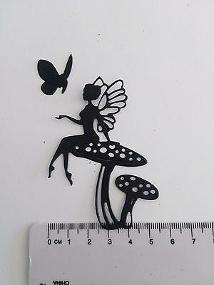 Die Cut  outs Silhouette   FAIRY x 10  cardmaking, scrapbook, crafts