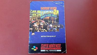 Donkey Kong Country 2  Snes Super Nintendo Instruction Booklet