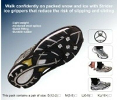 *NEW* Strider Ice Grippers | Shoe Grippers | Medium (3-5) | Snow & Ice Shoe Grip