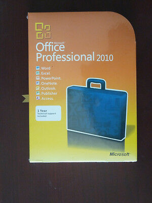 Sealed! Microsoft Office Professional 2010 Product Key Card DVD 1 PC